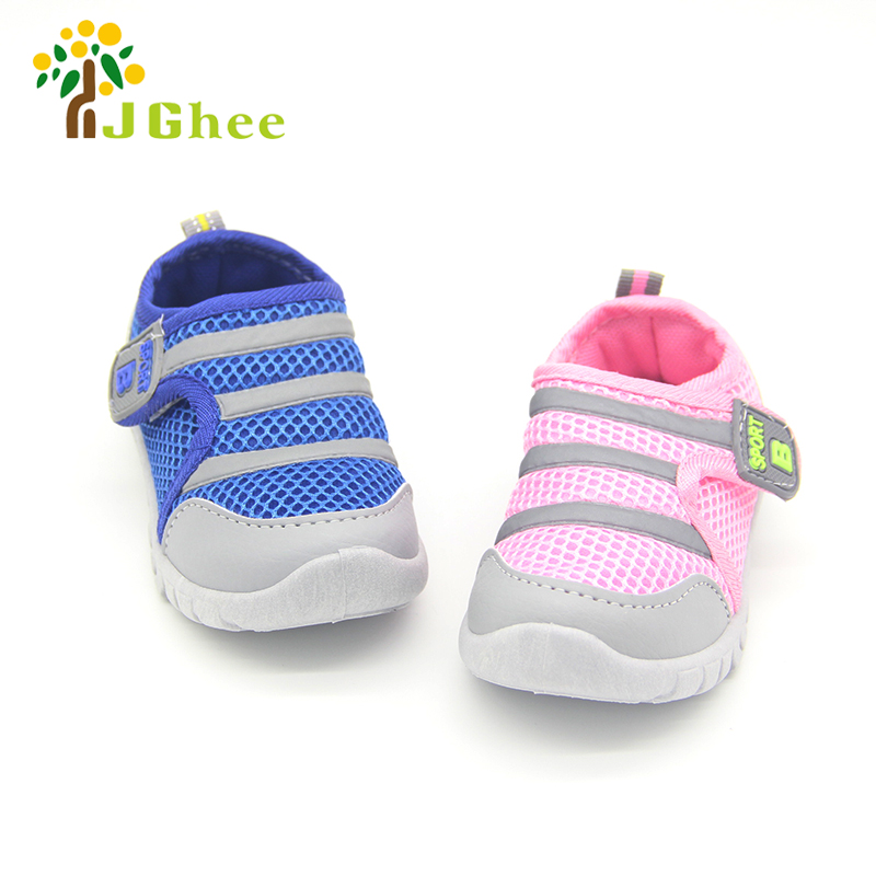 2019 Kids Shoes For Boys Girls Air Mesh Breathable Children Soft Casual Sneakers Baby Boy Girl Toddlers Strip 13-15CM