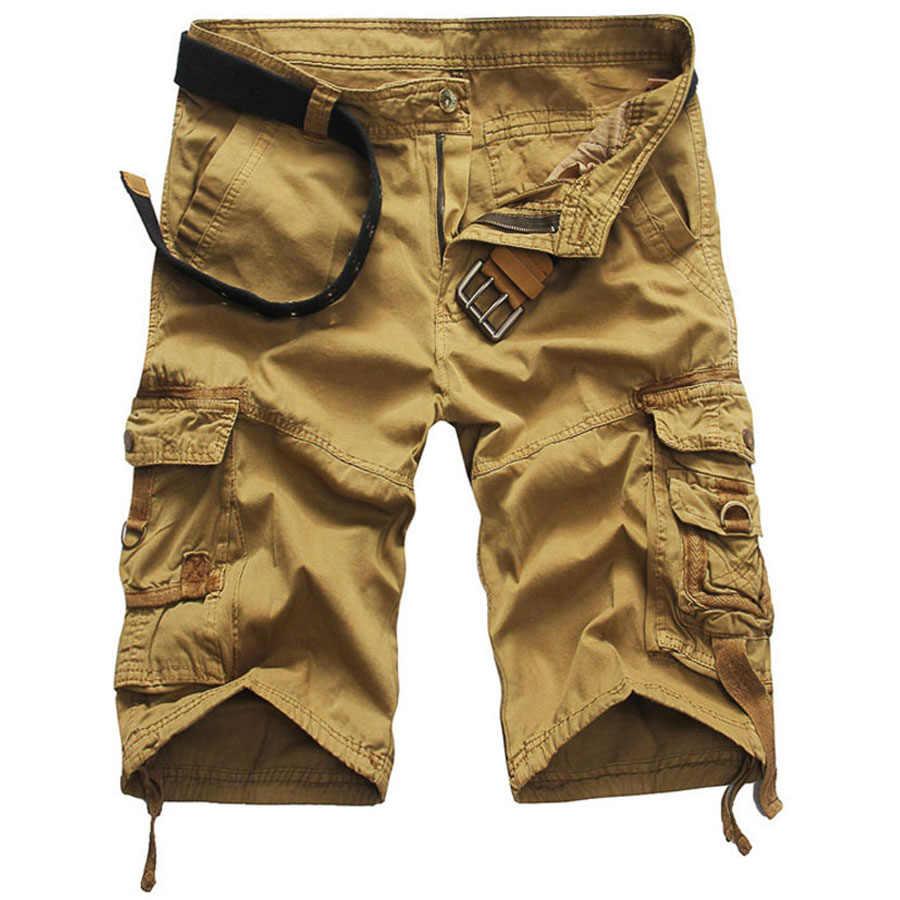 Фирменная Новинка шорты Для Мужчин Армия Cargo работы Повседневное Wash Pocket бегунов габаритные Для мужчин Шорты и бермуды masculina Для мужчин брюки дропшиппинг