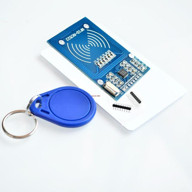 MFRC-522 RC522 RFID RF ic-kaart inductieve module met gratis S50 Fudan kaart sleutelhanger groothandel