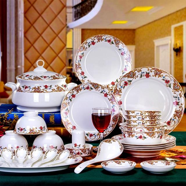 56 Pieces Cutlery Set High Quality Bone China Crockery
