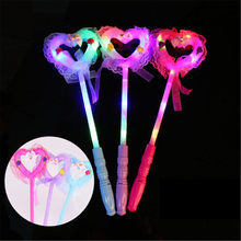 Stick Christmas Gifts Unique Light Flash Toys for Children Luminous Cartoon lollipop Light-up Toys(China)