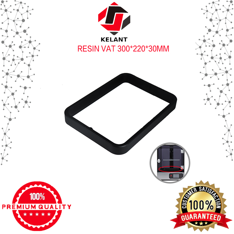 Kelant Anodized Aluminium Resin Vat Tank For S400 3d Printer Parts Fully Metal Frame And Durable FEP Film Steel Ring Installed