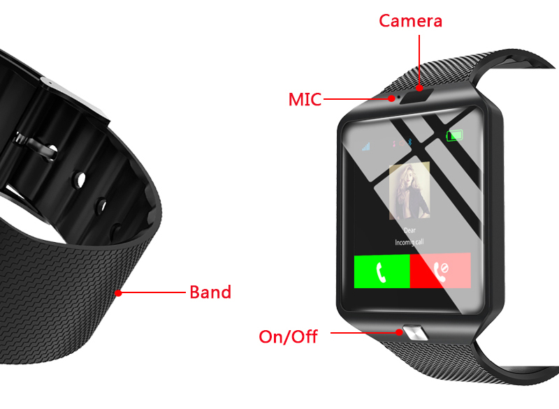 HTB1pw9hXjzuK1Rjy0Fpq6yEpFXaO - Stylish Smartwatch with Bluetooth SIM TF Card Slot and Camera