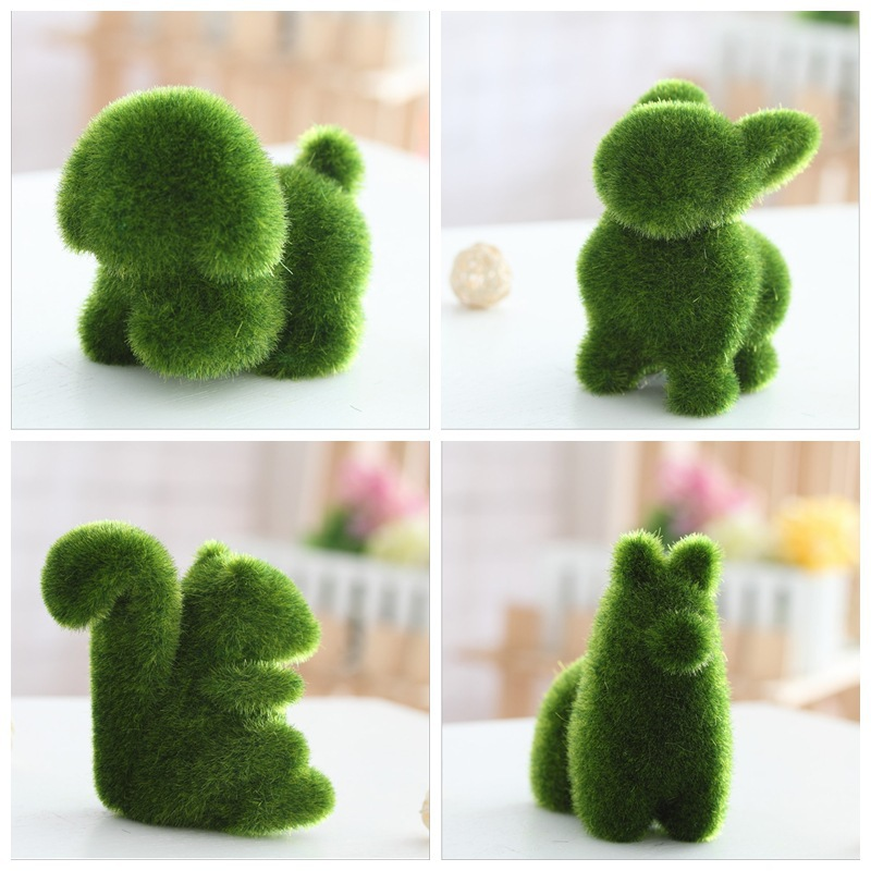 Small animals artificial grass decorations Grass land plants potted plants Crafts Home Office Decoration decorative flowers c20