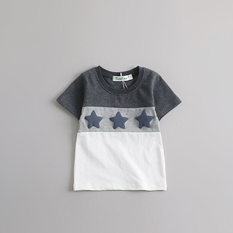 HTB1pw9xnHwTMeJjSszfq6xbtFXa6 - Family Look Summer style Short-sleeve Star T-shirt For Mother Daughter And Father Son Clothes Family Matching Clothes