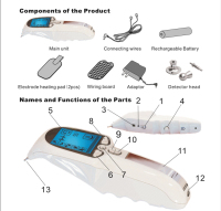 Physical Therapy / Portable Electro Acupuncture Device with Acupoint Pen