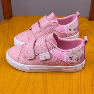 Image 5 - ディズニー冷凍子供ピンクカジュアルシューズ女の子2108エルザとアンナ王女なし靴紐puスポーツ靴ヨーロッパサイズ25 36