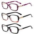Caliente Nueva Moda Hombre Mujer Unisex gafas de Metal Cuadrada Pierna Diamante Borde ordenador Vintage Oculos De Grau Marca de Diseño