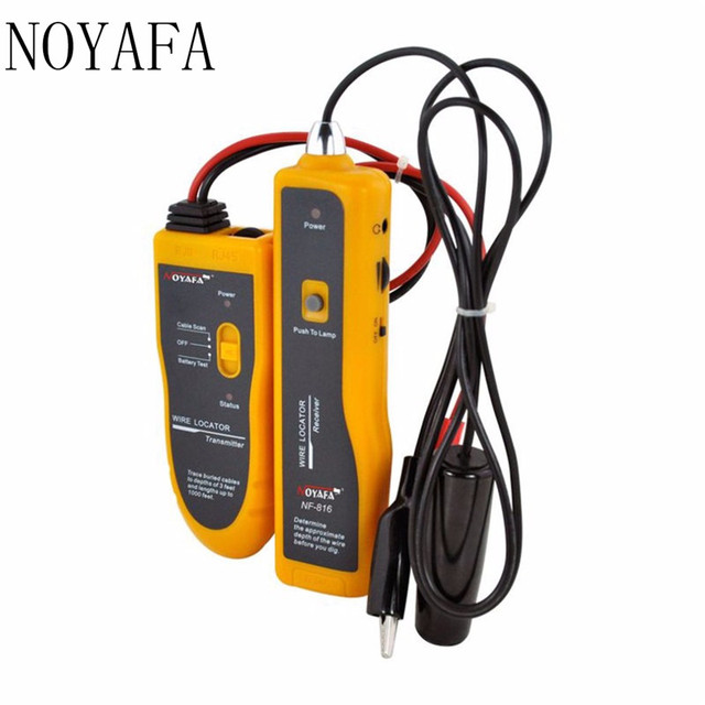 US $48 87 18% OFF|Noyafa NF 816 Underground Cable Locator RJ11 RJ45 Cable  Finder Telephone Ethernet Network Cable Testing Tool Wire Locator-in
