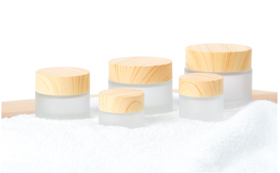 Image 4 - 5G 10G 15G 30G 50G Frost Glass Bottle Plastic Bamboo Lid Glass Jar Empty Bottle Cream Jar Cosmetic Packaging Container-in Refillable Bottles from Beauty & Health