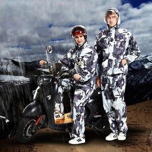 Image 3 - Chubasquero de camuflaje para hombre y mujer, ropa impermeable para exteriores, para pesca, Camping, lluvia