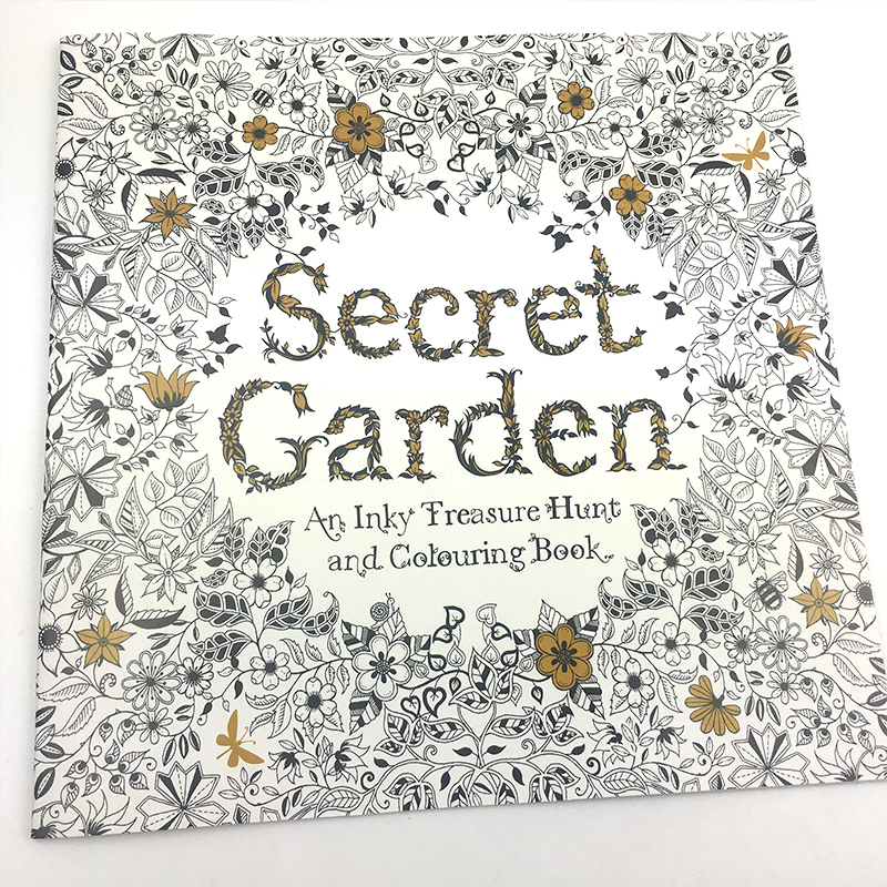 Blank English Secret Garden Coloring Books For Adults Kids Relieve Stress Kill Time Inspiration