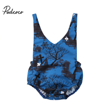Newborn Halloween Clothing Cute Toddler Kids Baby Girl Strap Romper Jumpsuit Outfits