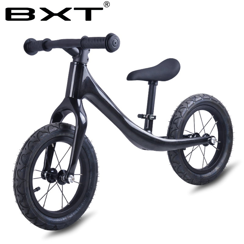 BXT 12inch Carbon fiber Frame Children Bicycle carbon Kids balance Bicycle For 2 6 Years Old