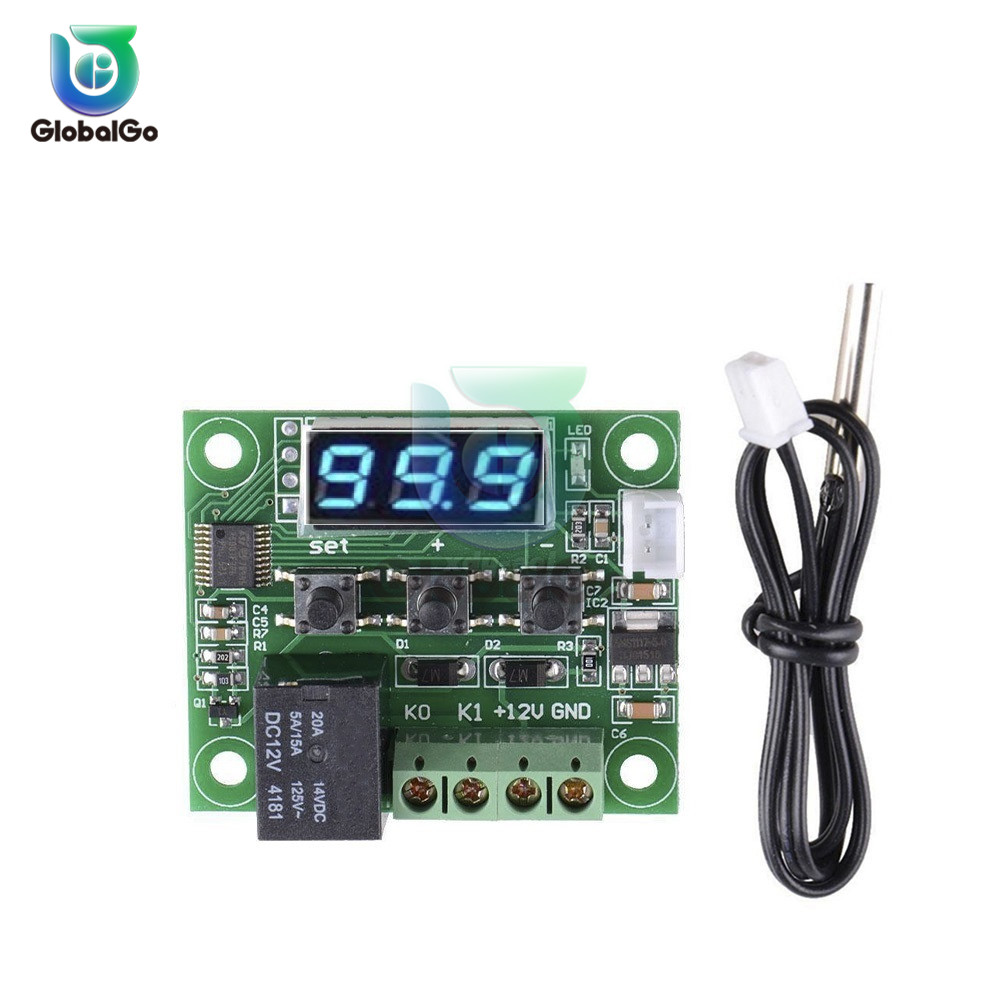 50-110° 12V W1209 Digital thermostat Temperature Switch Control Sensor+Case Hot