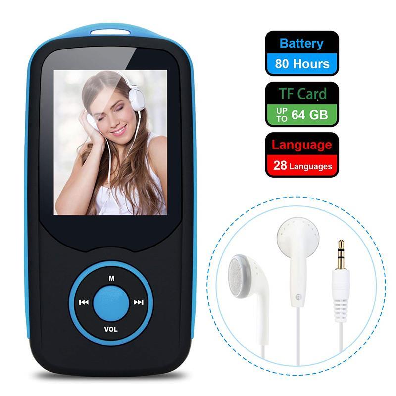 Bluetooth4.0 1.8 düymlük Rəng Menyu Ekranı olan MP3 Pleyer, FM - Portativ audio və video - Fotoqrafiya 2