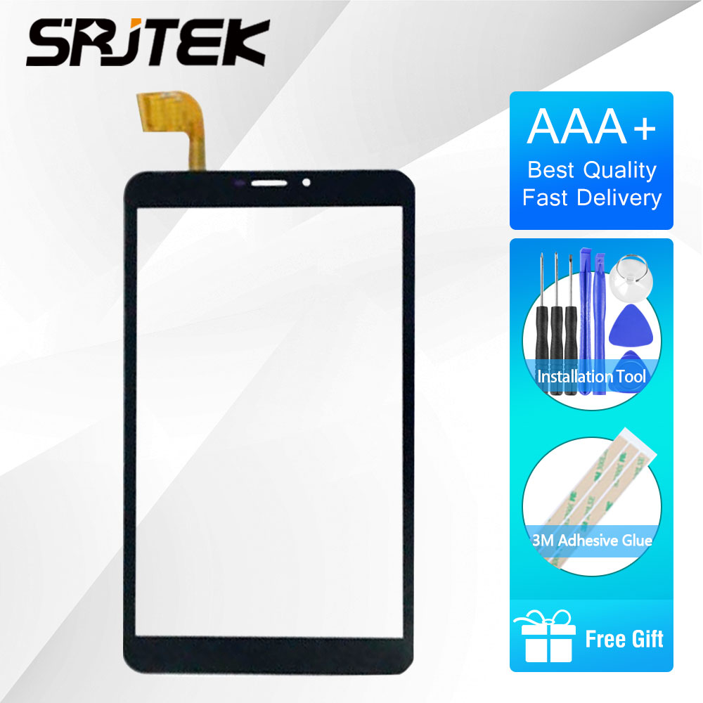 SRJTEK For Vonino Pluri Q8 Touch Screen 8 Inch Black New Touch Screen Panel Digitizer Sensor Repair Parts Replacement