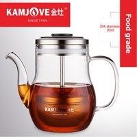 Kamjove orange הדר Puer תה סיר תה כוס עמיד בחום זכוכית תה סט אלגנטי כוס קפה סיר