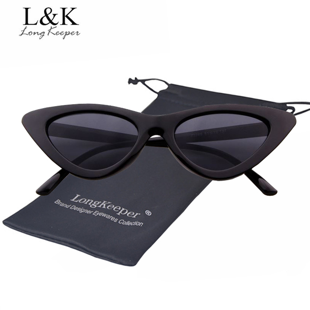 ca35f1000f Long Keeper Fashion Women Men Cat Eye Sunglasses High Quality Triangle  Small Ladies Sexy Sun Glasses Star Style Eyewears gafas
