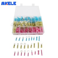 Waterproof 270pcs/Box Heat Shrink Sordering Terminals Solder Sleeve Tube Electrical Wire Insulated Butt Connectors Kit GP H018