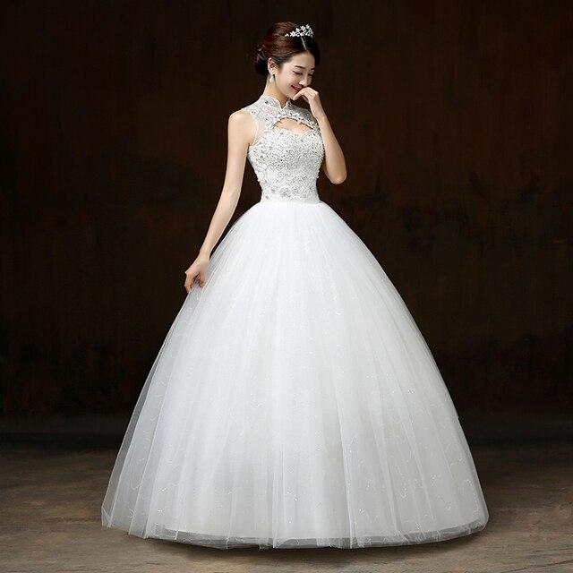 PTH H60#Wedding dress 2017 new spring summer bride Korean thin ...