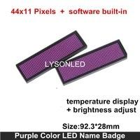 44x11 Dots Purple Color Huidu LED Name Badge High Quality MINI LED Name Sign