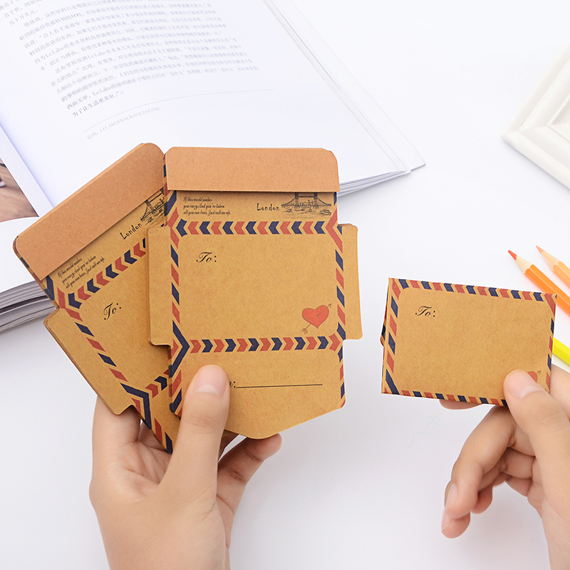 50 Pcs/set Creative Vintage Paper Envelope Kraft Paper Envelopes For Invitations For Student School Office Gift Free Shipping