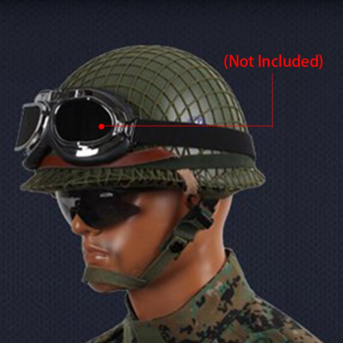 Militech Od Ww2 Deutsch M42 Stahl Helm Ww Ii M42 Repro Deutsch Helm Motorrad Sicherheit Helm Weltkrieg 2 Sammlung Helm Bequemes GefüHl Sicherheit & Schutz