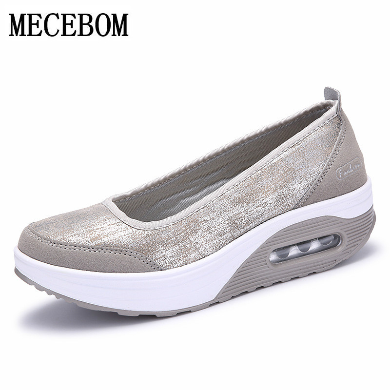Women Flat Platform Shoes Woman Moccasin zapatos mujer Women's Platform Slip On For Ladies Shoes Casual Flats Moccasins 7667W cresfimix zapatos women cute flat shoes lady spring and summer pu leather flats female casual soft comfortable slip on shoes