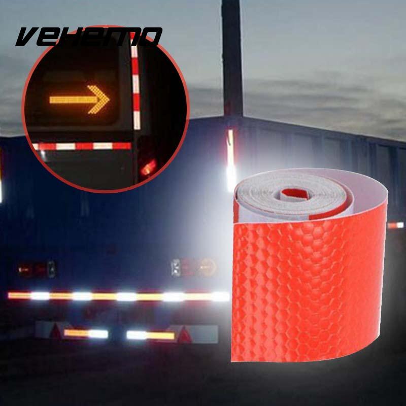 2018 5 см x 3,0 м декоративные красный и белый светоотражающие ленты отражают светоотражающие наклейки Предупреждение полоски безопасности зна...