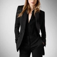Лидер продаж; Однотонный блейзер из спандекса без пуговиц; женские блейзеры и куртки; Модный Тонкий маленький костюм