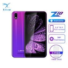 LEAGOO Z10 Cep Telefonu 5.0 inç 18:9 Ekran 1 GB 8 GB Çift Sim MT6580M Dört Çekirdekli 2000 mAh cep telefonu 5MP + 5MP Kamera 3G Smartphone