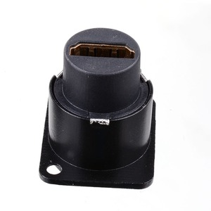 Image 5 - HDMI D 型ソケットネットワークプラグシャーシソケットパネルマウントオーディオコネクタメタル HD 航空ケーブル Nov 26A