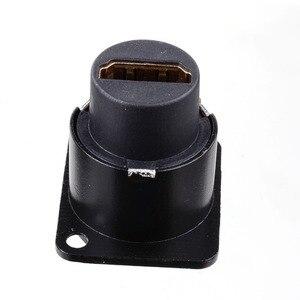 Image 5 - HDMI D نوع المقبس شبكة التوصيل الشاسيه لوحة جبل موصل الصوت المعادن HD كابل الطيران Nov 26A