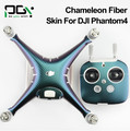 PGY DJI PVC Chameleon Fiber Skin Decal Sticker Phantom 4 Quadcopter Shell + Controller Accessory body & RC M12