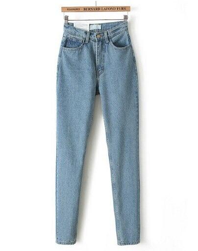 De En Jeans Lápiz Pantalones Mujer Mezclilla Alta Ocasional Retro Para 2017 Moda Vintage Mujeres Cintura Boyfriend Delgada Camiseta pxWvqnIwT0