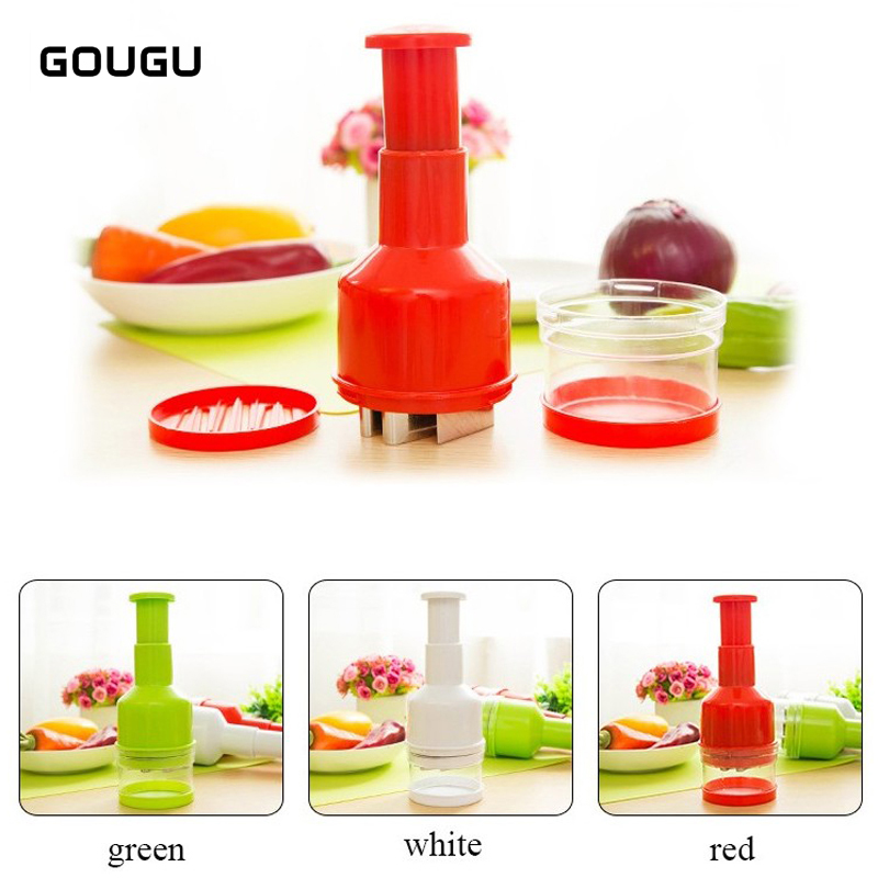 1PC GOUGU Practical Onion Chopper Slicer Garlic Grinder Hand Presser Vegetable Shredder Knife Kitchen Aid Tools Slicing Cutter