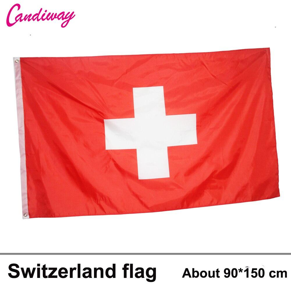 Switzerland Flag 3*5 Feet. Polyester Flag.90*150cm Big Banner Swiss Flag
