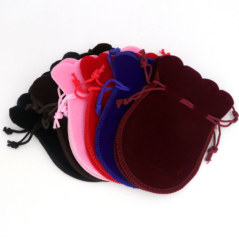 10PCS Calabash Gourd Velvet Jewelry Bags Gift Packaging Drawstring Pouches For Jewelry Engagement Party Wedding DIY Accessories