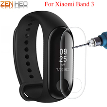 купить 2Pcs Screen Protector Film For Xiaomi Mi Band 3 Smart Wristband Bracelet Full Cover Protective Films Watch Film For Mi Band 3 по цене 56.76 рублей