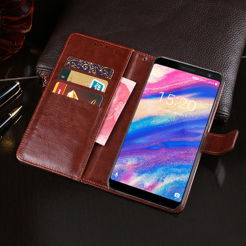 For Umidigi A1Pro Case Business Style Stand Flip Wallet PU Leather Phone Capa Cover for Umidigi A1 Pro Case Fundas Accessories