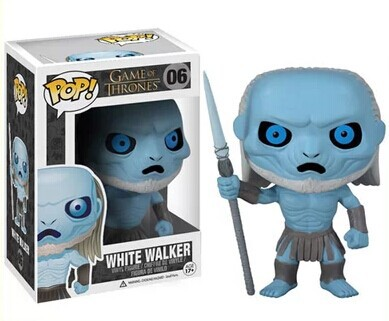 NEW 2014 Genuine FUNKO POP 10cm <font><b>Game</b></font> <font><b>of</b></font> <font><b>Thrones</b></font> <font><b>White</b></font> <font><b>Walkers</b></font> <font><b>action</b></font> <font><b>figure</b></font> Bobble Head Q Edition new box for Car Decoration