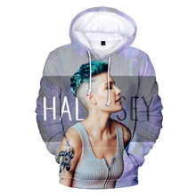 Aikooki New Fashion singer Halsey 3D Hoodies Men/Women Popular Casual Sweatshirts 3D Print Halsey Personality Hip Hop Hoodie