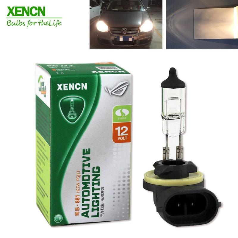 XENCN 881 12V 27W 3200K Clear Series Original Car Headlight High Quality Halogen Auto Fog Lamps for Hyundai Kia Chevrolet Ford лампа автомобильная avs atlas anti fog h27 881 12v 27w