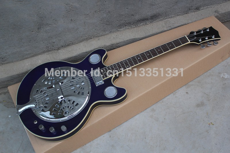 Free Shipping Wholesale High Quality maestro Dobro Resonator Purple Electric Guitar In stock 140401 china s es p guita wholesale newest explorer electric guitar high quality ems free shipping free shipping