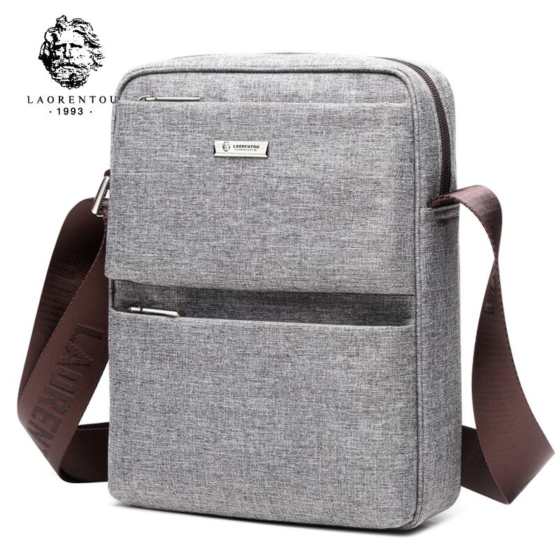 LAORENTOU2018 new high-quality fashion luxury brand shoulder bag male cross-section Messenger bag Oxford cloth business mens ba