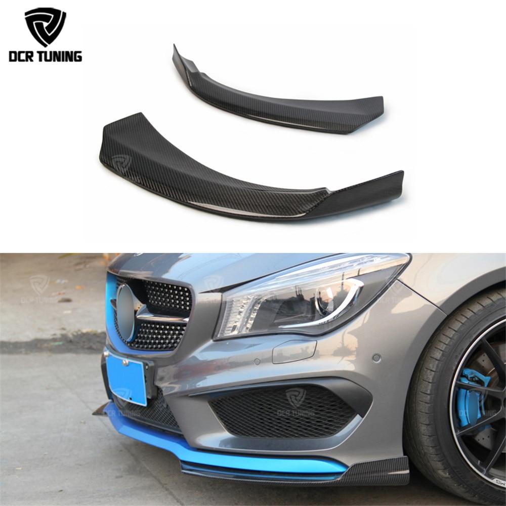 Для Mercedes CLA Carbon Передній бампер Splitter & Задній бампер Splitter 2014 2015 2016 CLA Class cla 45 amg CLA250 CLA260 CLA45 AMG
