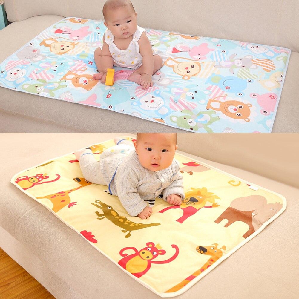 1 Pc Neue Tragbare Baumwolle Baby Pad Windeln Urin Ändern Pads Matratze Reusable Baby Windeln Für Neugeborene Zufällige Farbe Duftendes Aroma