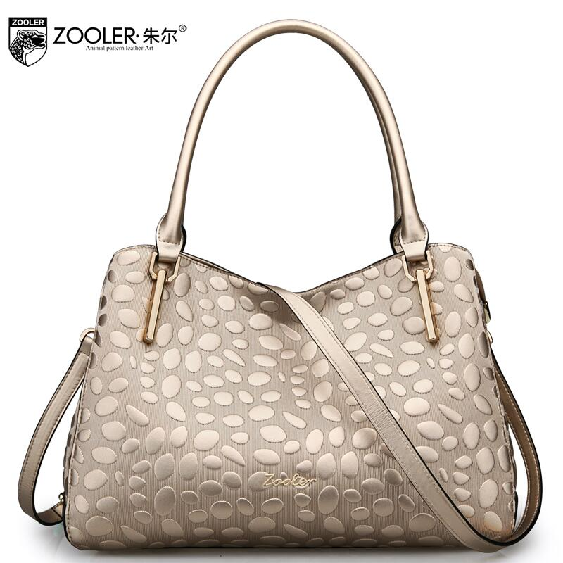 ZOOLER 2017 New Superior cowhide Genuine Leather fashion luxury handbags women bags designer women handbags shoulder bag