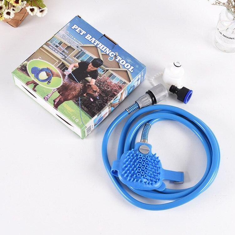 Домашние животные, собаки и кошки инструмент для купания удобный массажер инструмент для душа Чистка стирка опрыскиватель расческа для собак товары для животных